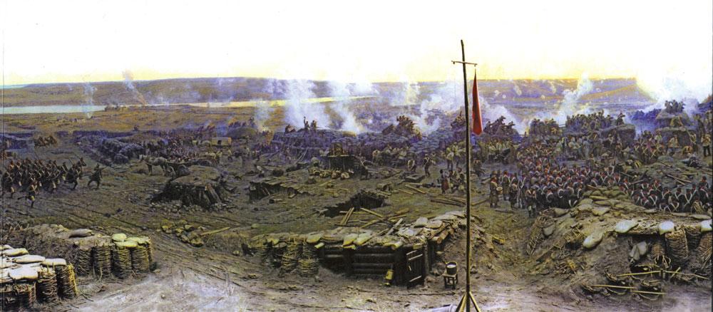 Фрагмент панорамы 'Оборона Севастополя 1854 - 1855 гг.